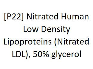 [P22] Nitrated Human Low Density Lipoproteins (Nitrated LDL), 50% glycerol, Academy Bio-medical Company, Inc.