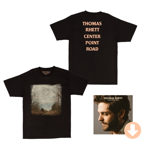 Center Point Road Black T-Shirt + Digital Album