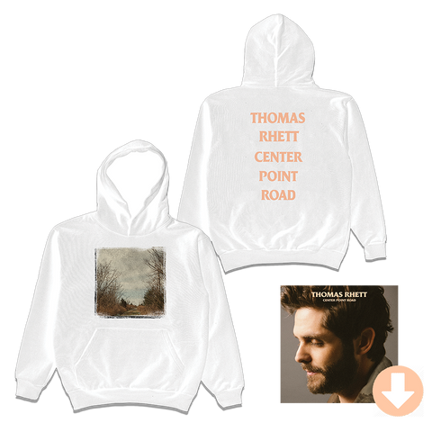 Center Point Road White Hoodie + Digital Album