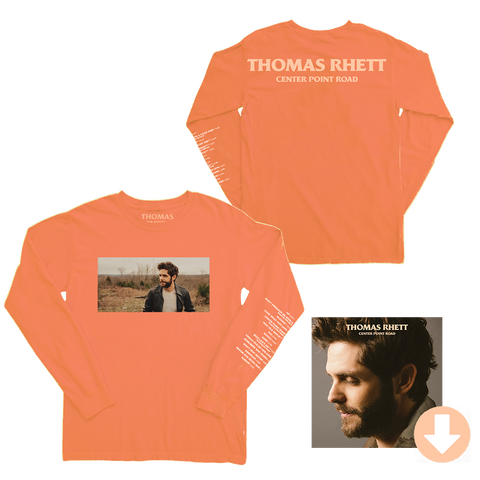 Track List Peach Long Sleeve T-Shirt + Digital Album