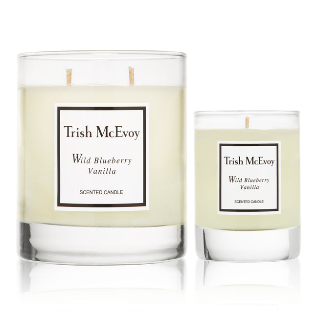 Wild Blueberry Vanilla Scented Candle Duo