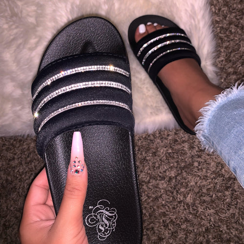 Brooke Slides (Black)