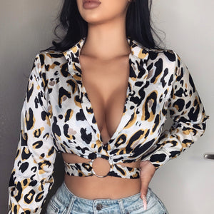 Jordyn Crop Top (White Cheetah)