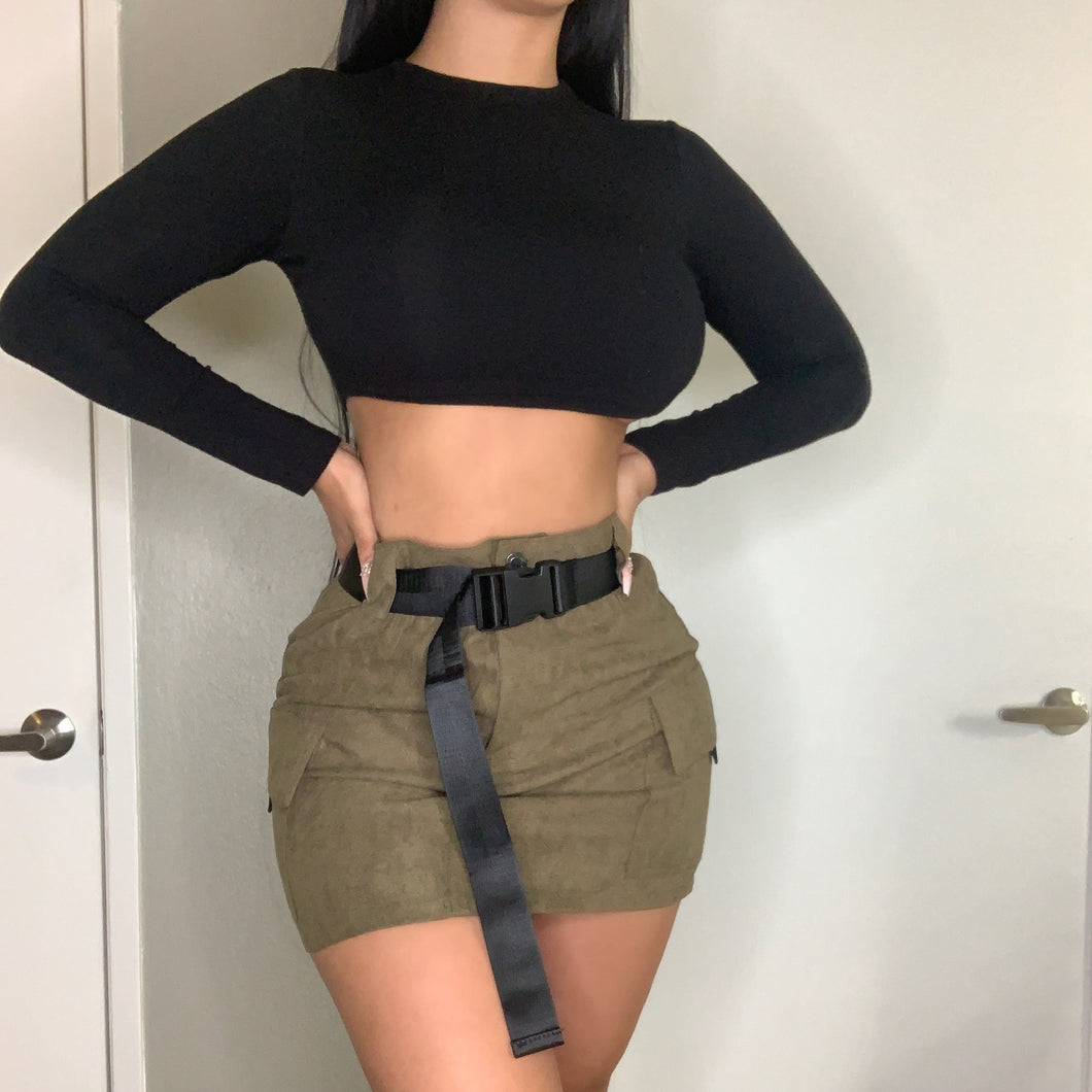 Cameron Skirt (Olive Green)