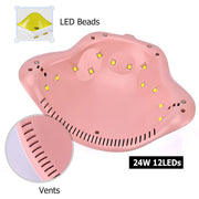 24W Rainbow Shaped UV Nail Dryer