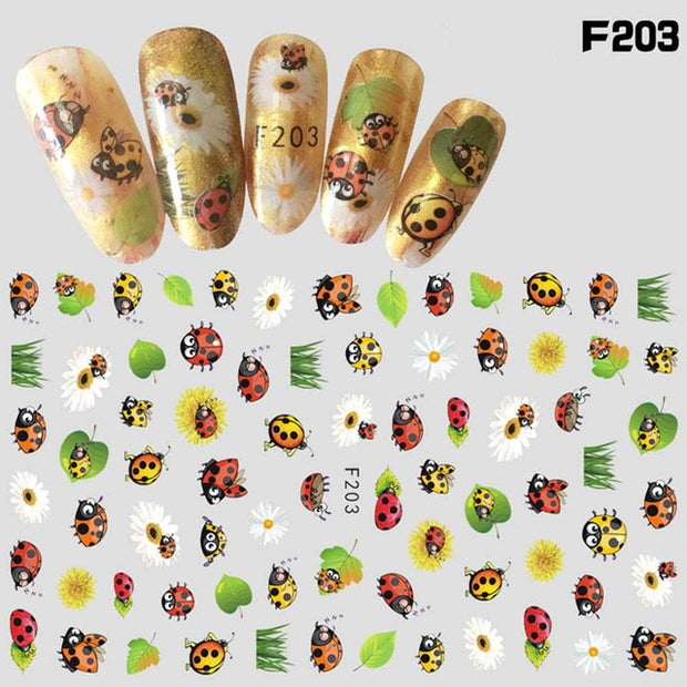 Leaf Pattern Sticker For Nail Beauty