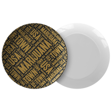 Load image into Gallery viewer, BLACK AND GOLD DINNER PLATE