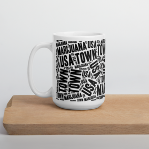 Large Coffee Mug- NEWSPAPER with Red Weed Lips