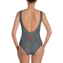 Load image into Gallery viewer, BLACK DENIM One-Piece Swimsuit