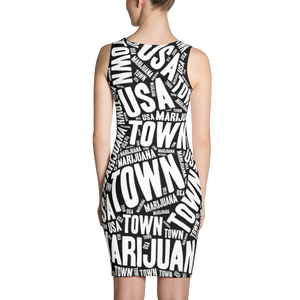 Sublimation Dress - REVERSE NEWSPAPER