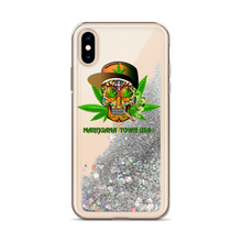Load image into Gallery viewer, Liquid Glitter Phone Case - SKULL