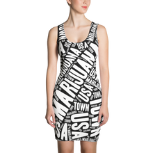 Load image into Gallery viewer, Sublimation Dress - REVERSE NEWSPAPER