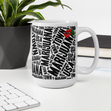 Load image into Gallery viewer, Large Coffee Mug- NEWSPAPER with Red Weed Lips