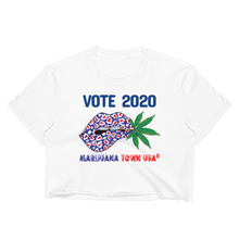Load image into Gallery viewer, 'Vote 2020' White Crop Top Tees