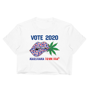 'Vote 2020' White Crop Top Tees