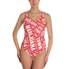 Load image into Gallery viewer, RED w/ WHITE One-Piece Swimsuit