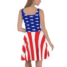 Load image into Gallery viewer, Skater Dress- PATRIOTIC