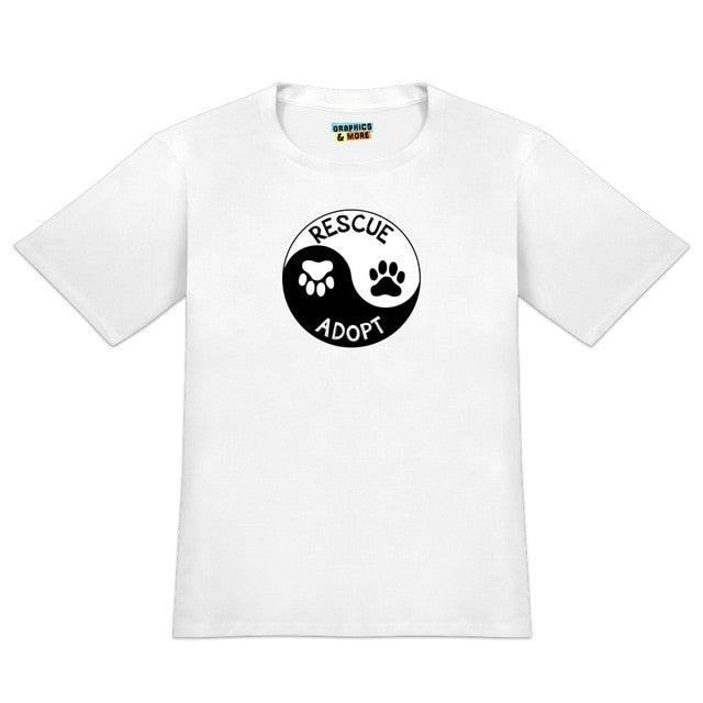 Rescue Adopt Paw Prints Cats T-shirt