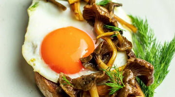 Truffle Sunny-Side Up & Mushrooms on Toast