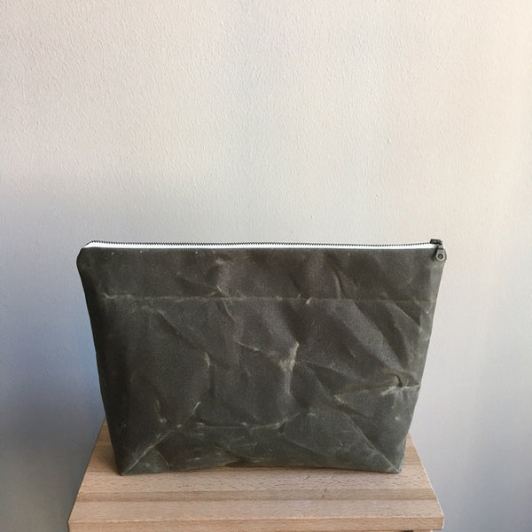 Waxed Canvas Zippered Pouch