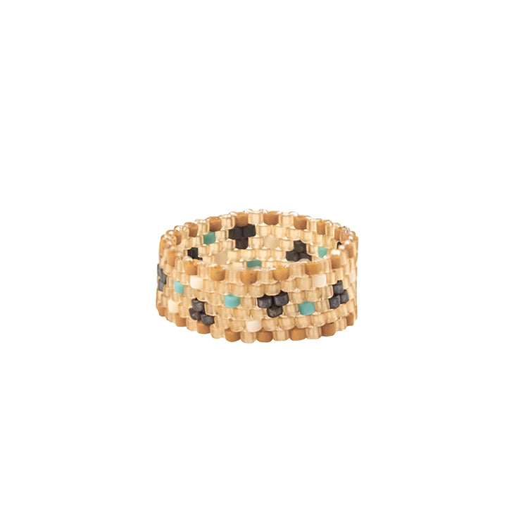 Peyote Ring by Rubinski Works