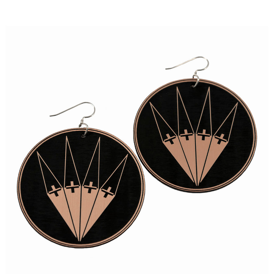 Fan Large Earrings by Cetan Ska