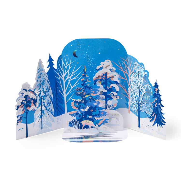 Wintry Forest Holiday Cards