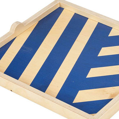 Blue Stripe Square Tray