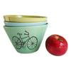 Hand Glazed Bicycle Bowl, medium