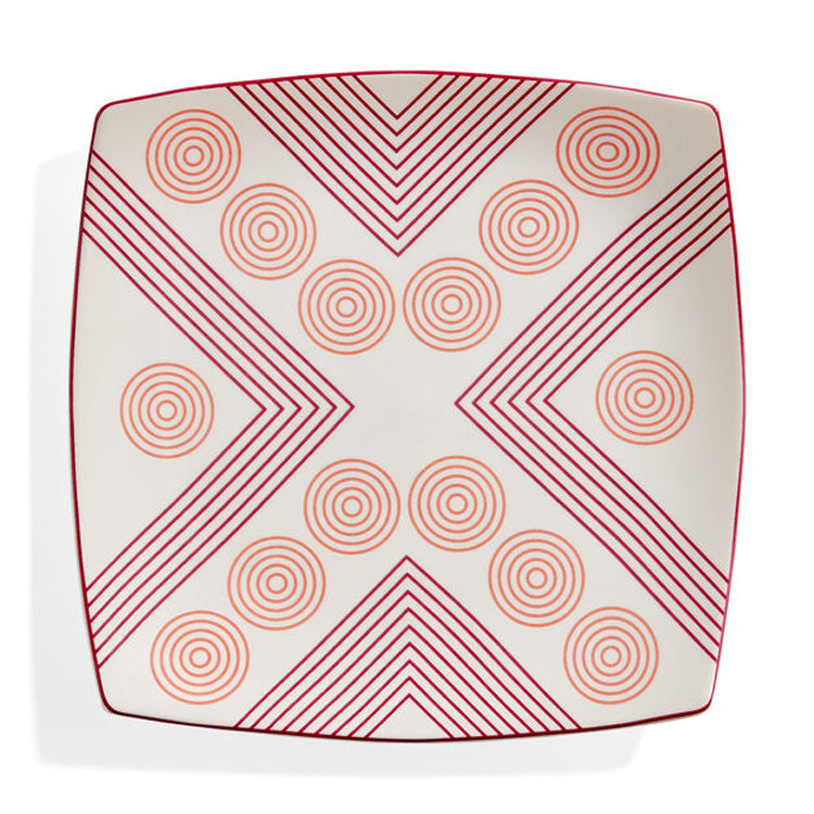 Arrows and Circles Ceramic Plate by Marguerita Mergentime