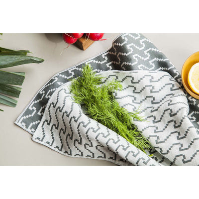 Color Waves and Drops Bitmap Tea Towel Set
