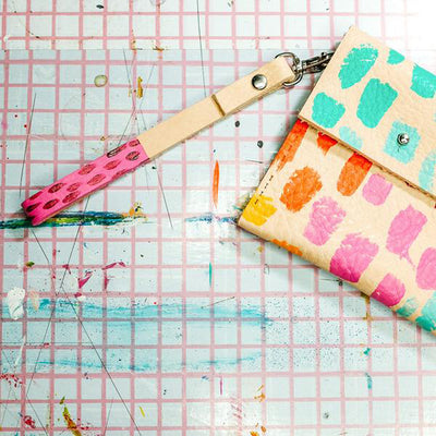 Colorful Handbag Clutch with Rainbow Dash Design