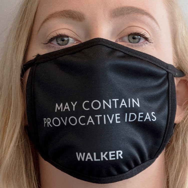 """May Contain Provocative Ideas"" Mask"