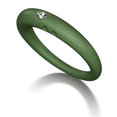 Duepunti Silicone Diamond Ring
