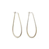 Large Oval Sterling Silver Hoop Earrings