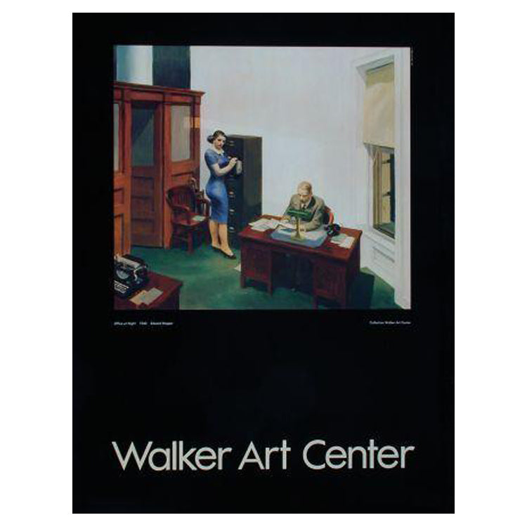 Edward Hopper: Office at Night Poster