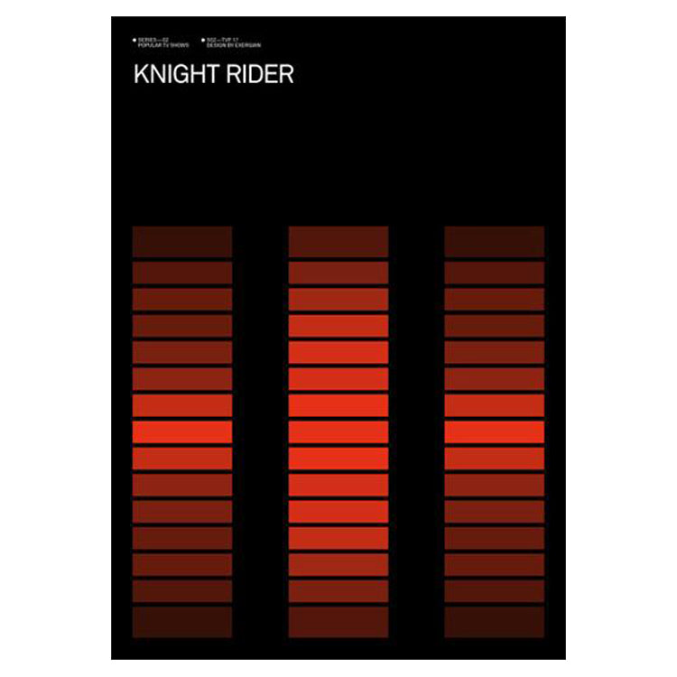 Albert Exergian Iconic TV Poster - Knight Rider