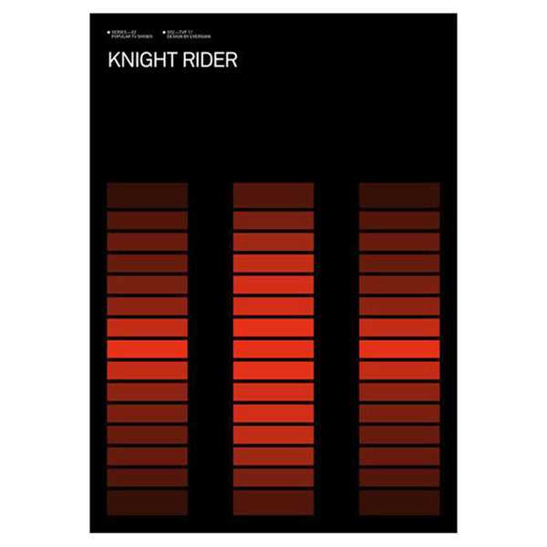 Albert Exergian Iconic TV Poster - Knight Rider  from Blanka