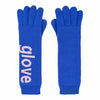 Blue Typography Gloves by Verloop