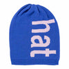 Blue Typography Hat by Verloop