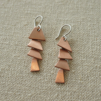 Copper Pagoda Cascade Earrings
