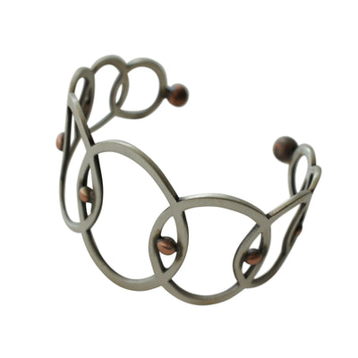 Mid-Century Interlocking Circle Cuff