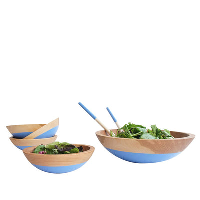 Color Dipped Beech Wood Bowl, large