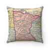Minnesota Map Pillow