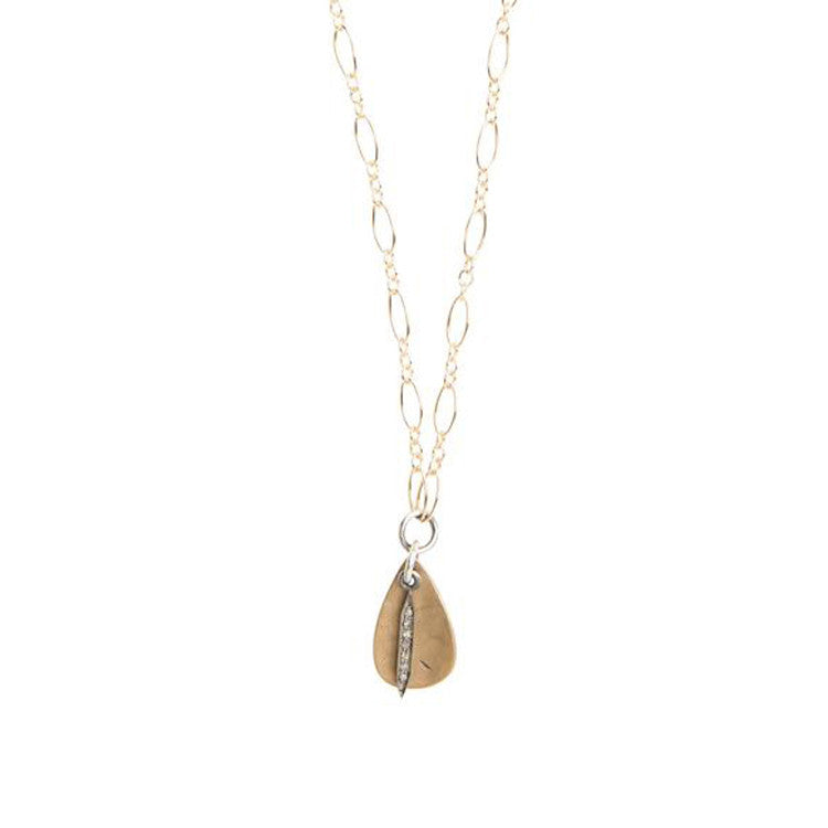 Everyday Diamond Mini Spike Necklace with Teardrop