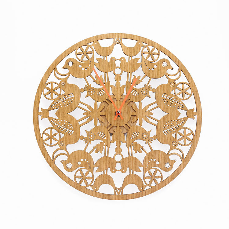 Whole World on a Lily Blossom Wall Clock
