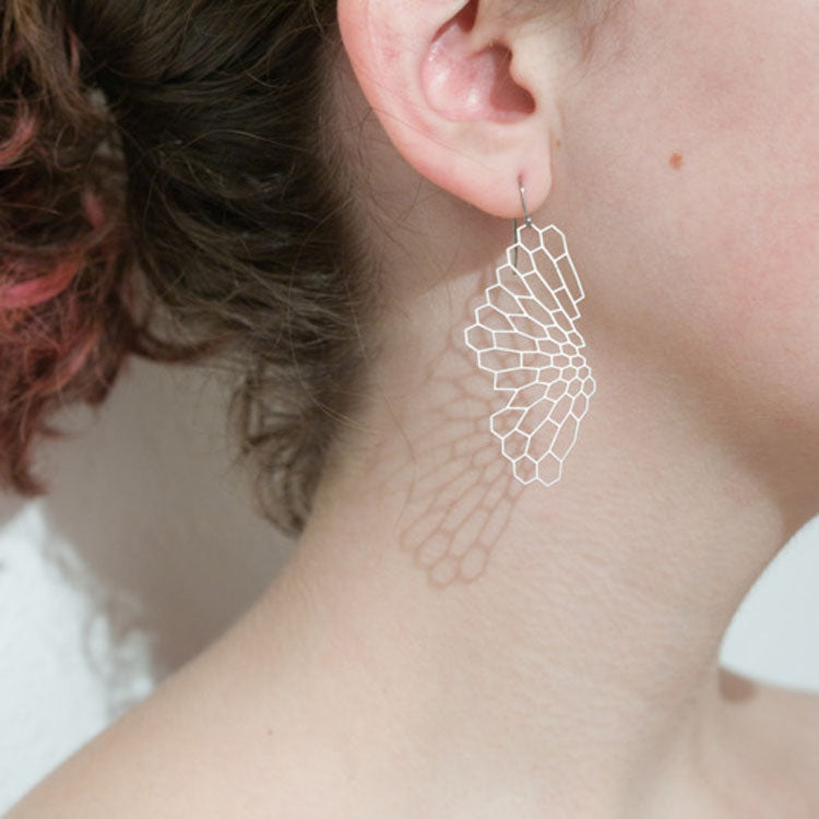 Radiolaria Earrings, Stainless Steel