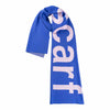 Blue Typography Scarf by Verloop