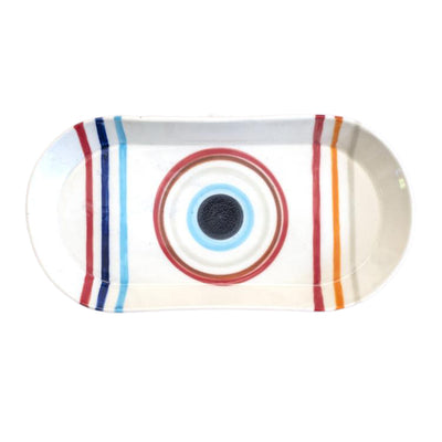Hand Painted Oval Platter by Rust Designs
