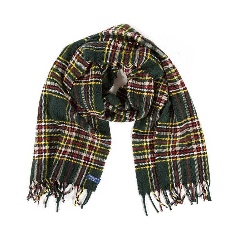 Stewart Plaid Wool Scarf